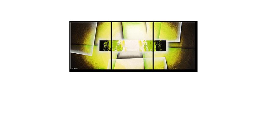 Broken Green 180x70cm quadro da soggiorno - Quadri XXL