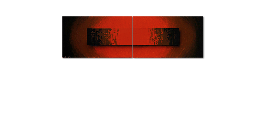 Glowing Red 200x60cm quadro