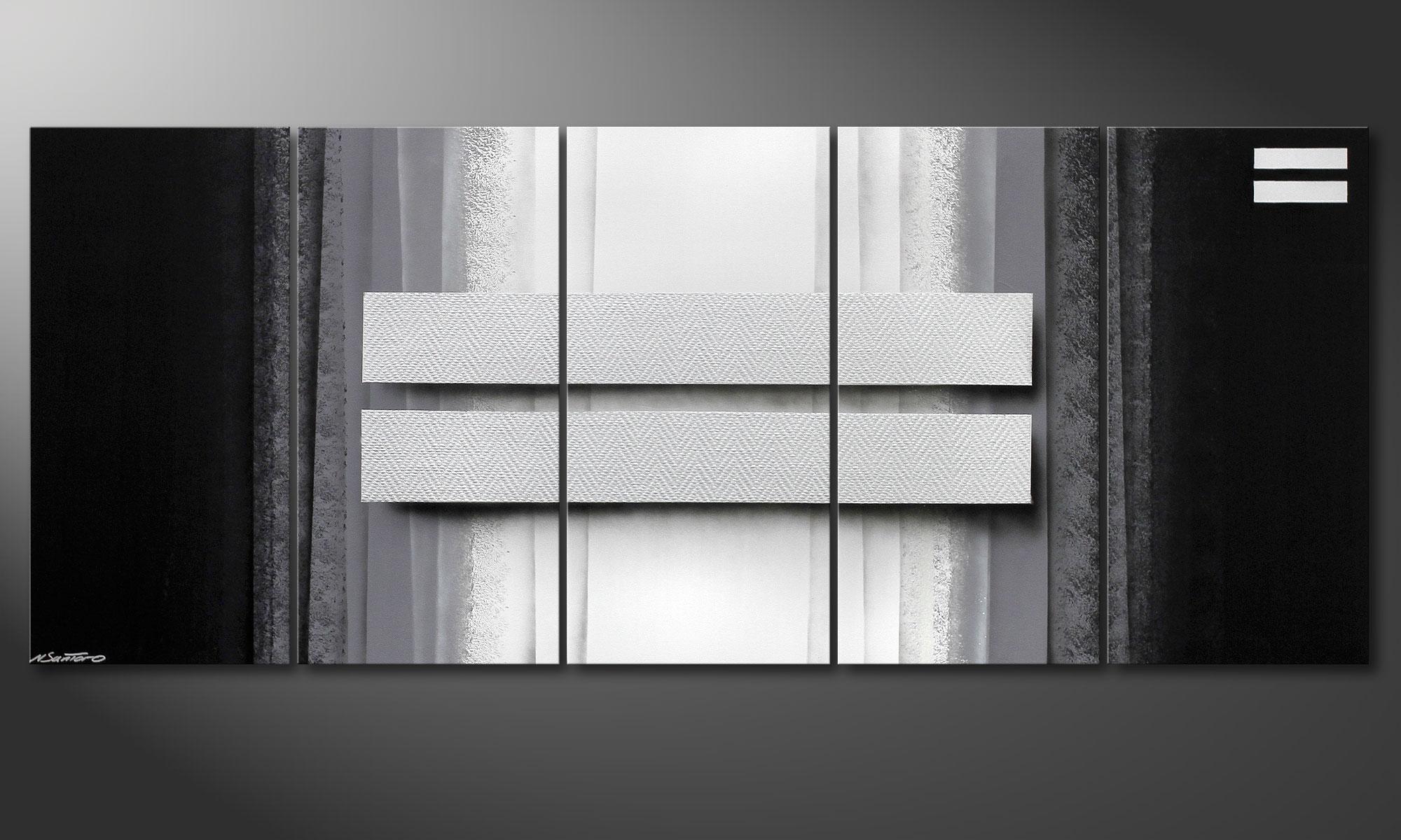 Quadro da soggiorno Silver Rain 200x80cm - Quadri XXL