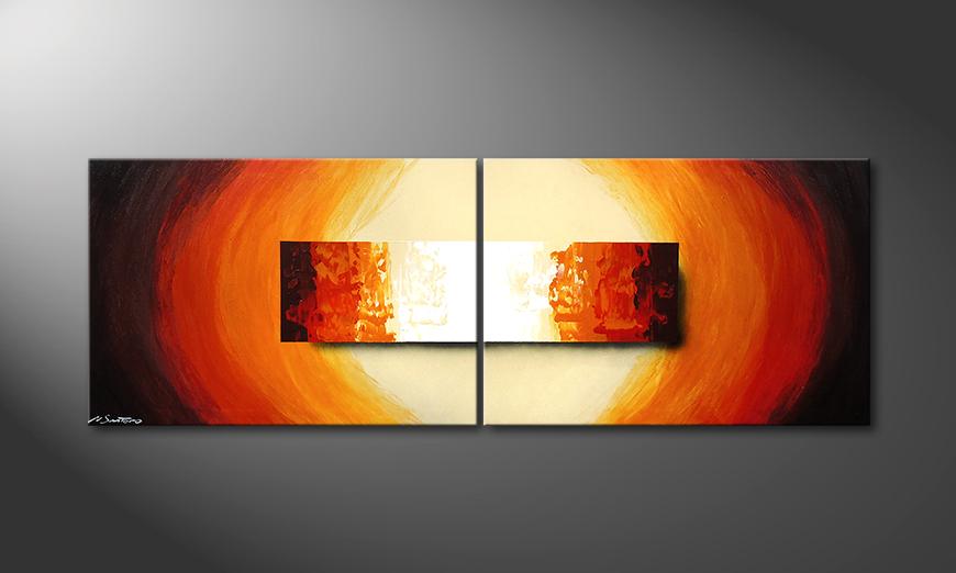 Aboil Fire 210x70x2cm quadro