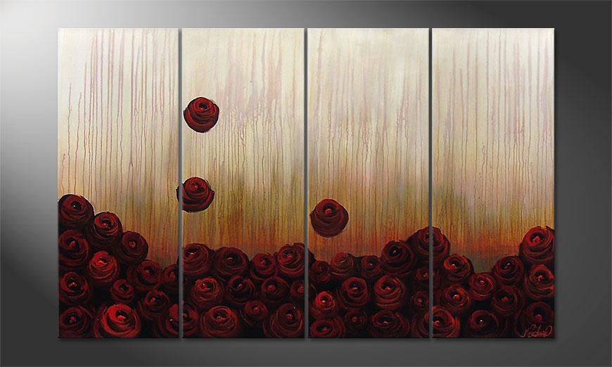 Bed of Roses 160x100x2cm quadro
