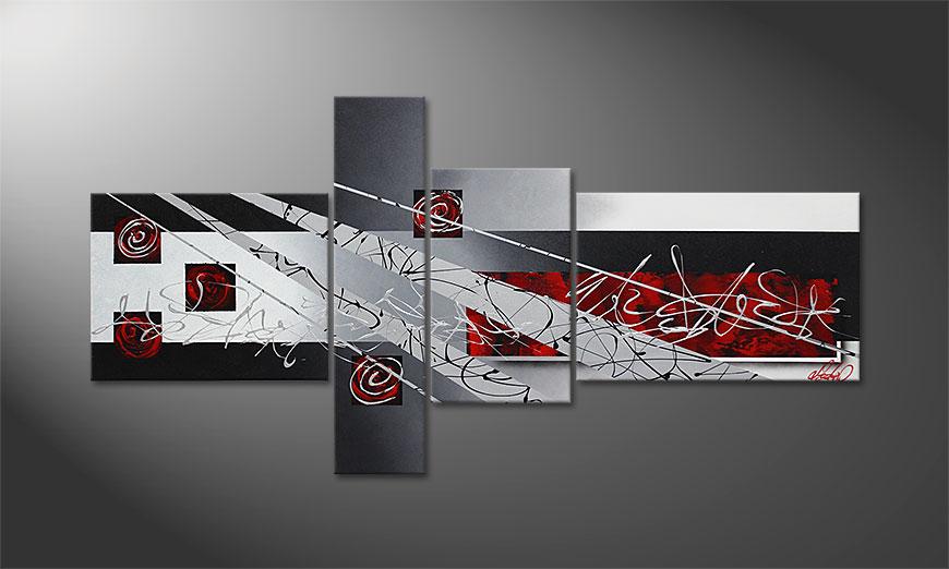Black Lights 160x80x2cm quadro
