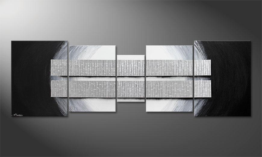 Blocs of Silver 250x80x2cm quadro XXL