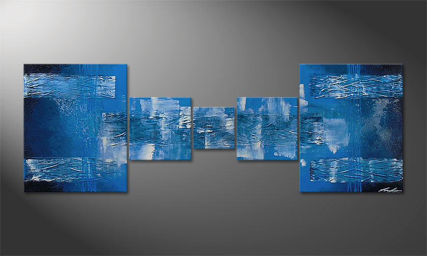 Blue Waves 180x60x2cm quadro