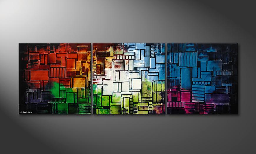 Color Cubes210x70x2cm quadro
