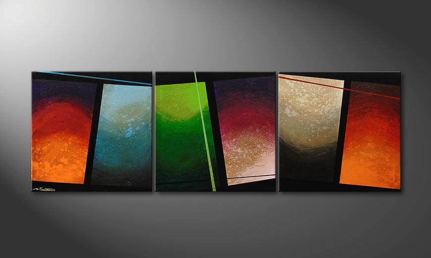 Color Wave 210x70x2cm quadro da soggiorno