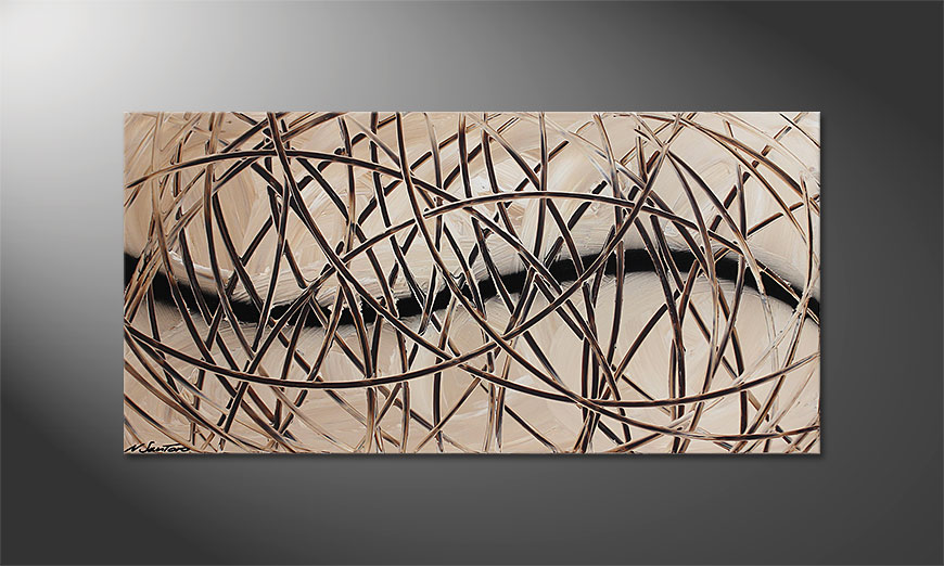 Desert Traces 120x60x2cm quadro