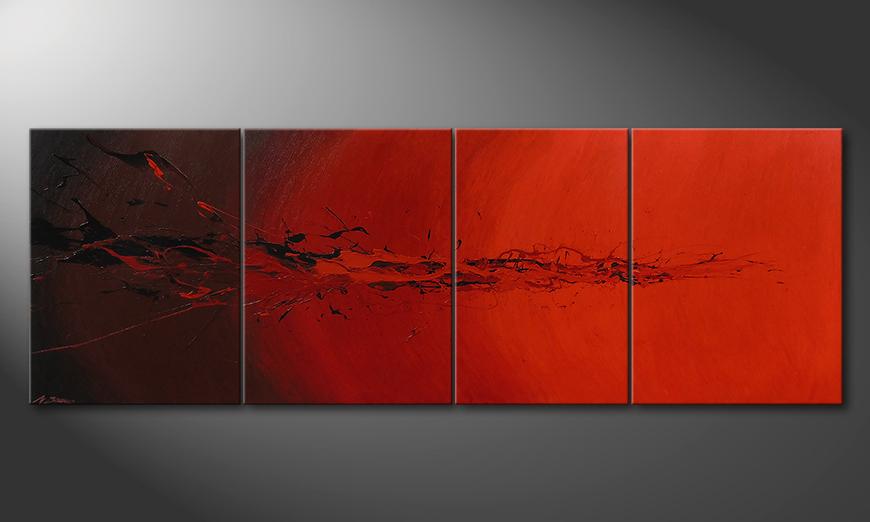 Devil Splash 230x80x2cm quadro da soggiorno