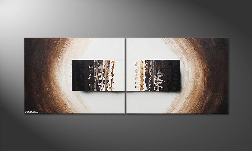 Enlightened Earth 160x60x2cm quadro
