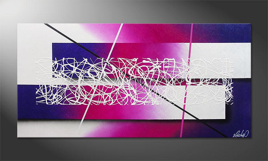 Fancy Connection 140x70x2cm dipinto moderno