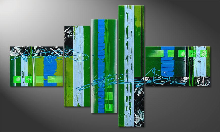 Fresh Momentum 150x90x2cm dipinto moderno