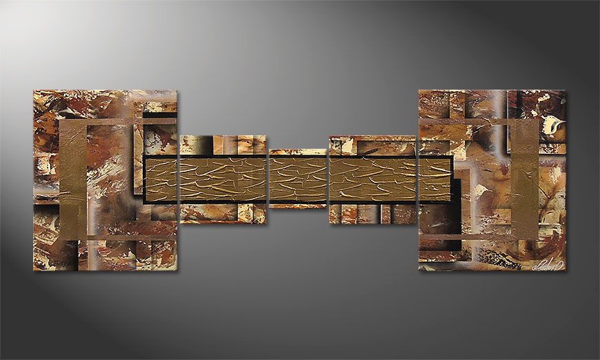 Golden Treasure 180x60x2cm dipinto moderno