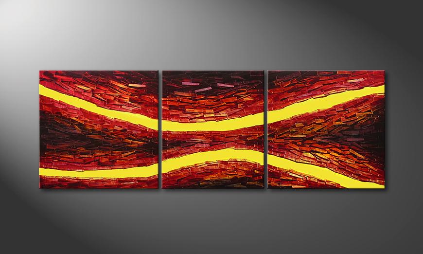Lava Splits in 200x70x2cm quadro