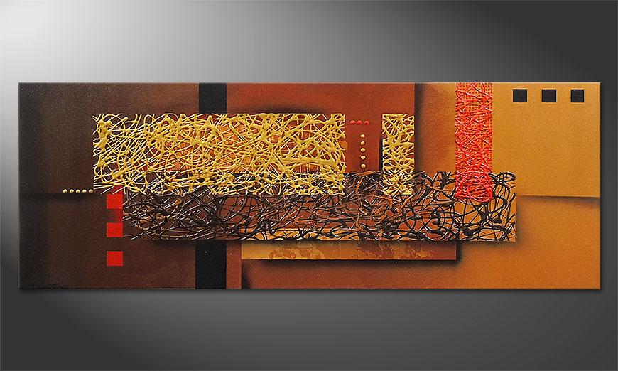 Liquid Gold 150x55x2cm quadro