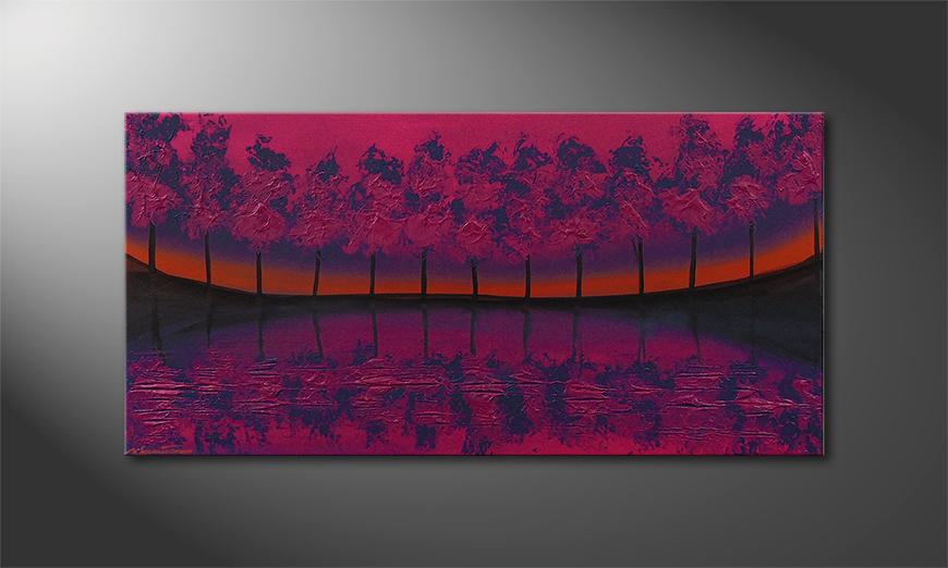 Purple Tree 120x60x2cm quadro