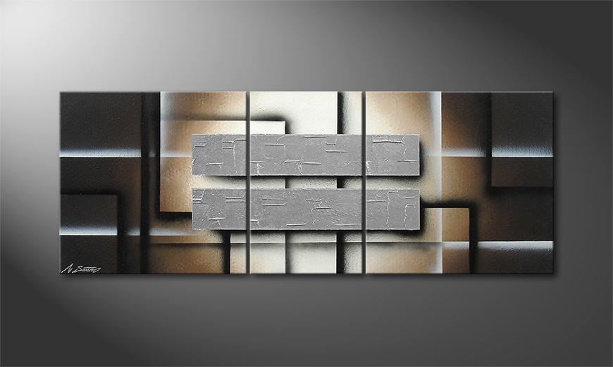 Quadro da soggiorno Silver Shine 130x50x2cm
