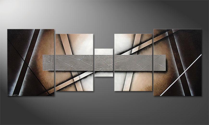 Silver Mirror 200x70x2cm quadro da soggiorno
