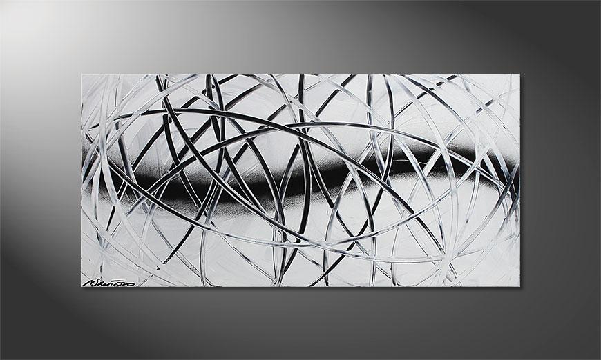 Snow Traces 100x50x2cm quadro