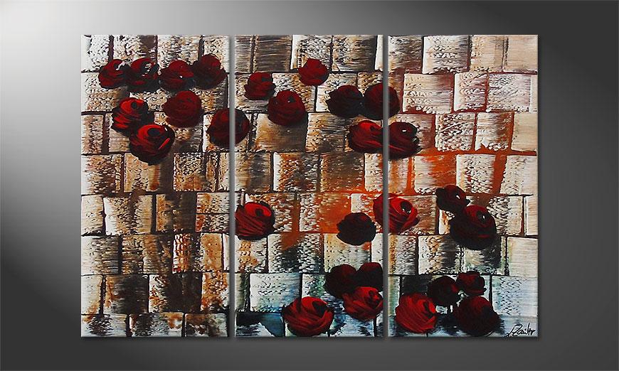Storm of Roses 120x80x2cm quadro