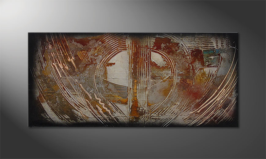 Traces of Past 110x50x2cm quadro