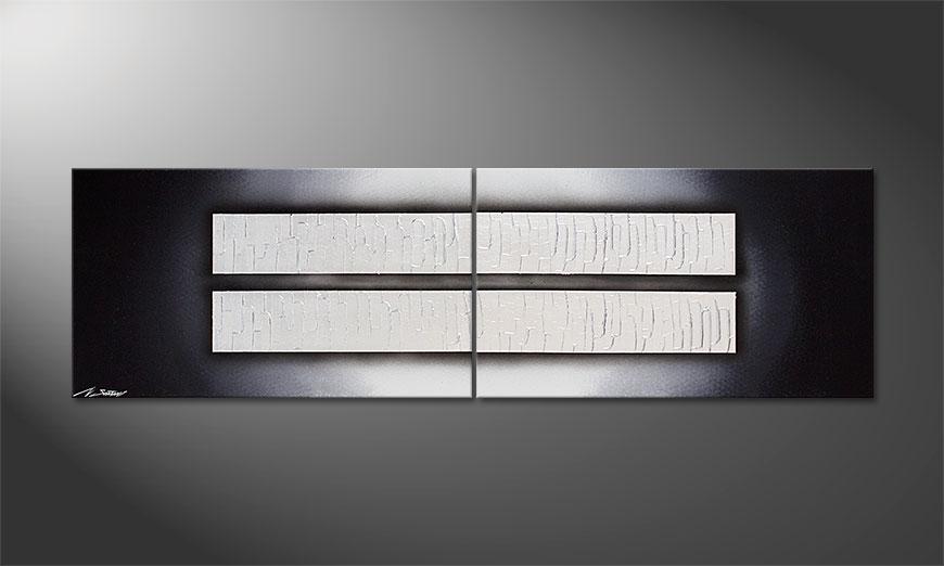 Dipinto moderno Mirroring 170x50x2cm