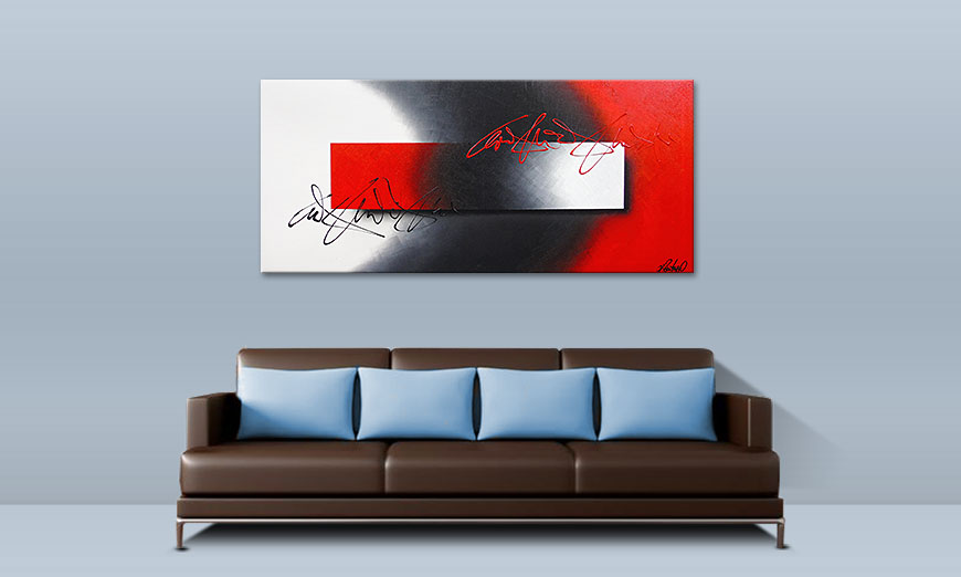Quadro deco Battle of Contrast 150x70cm