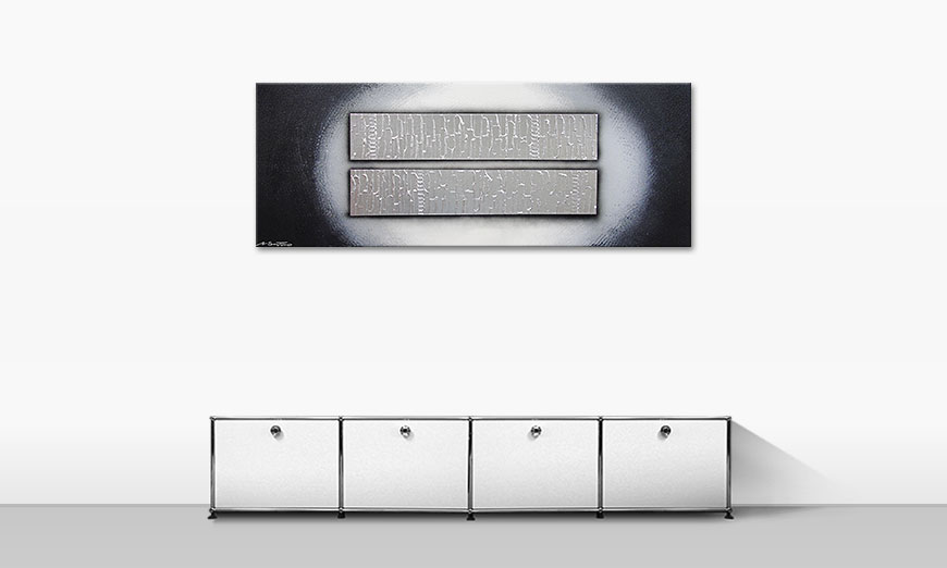 Blocks of Silver 150x60cm quadro