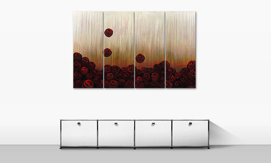 Bed of Roses 160x100cm quadro