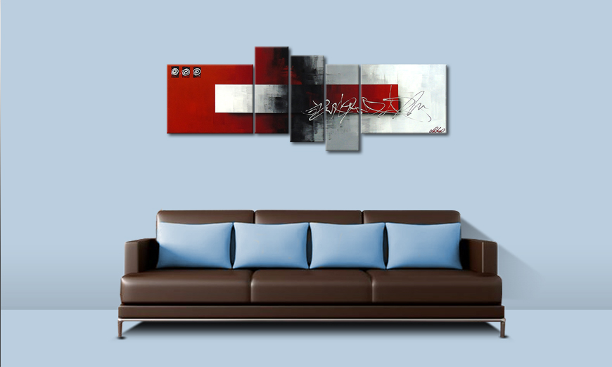 Clear Thought 160x60cm quadro moderno