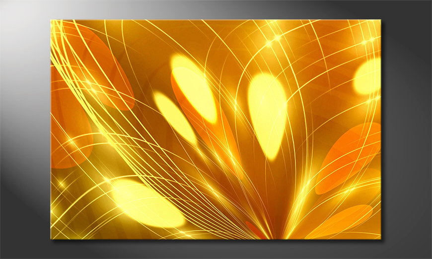 Abstract Lights quadro