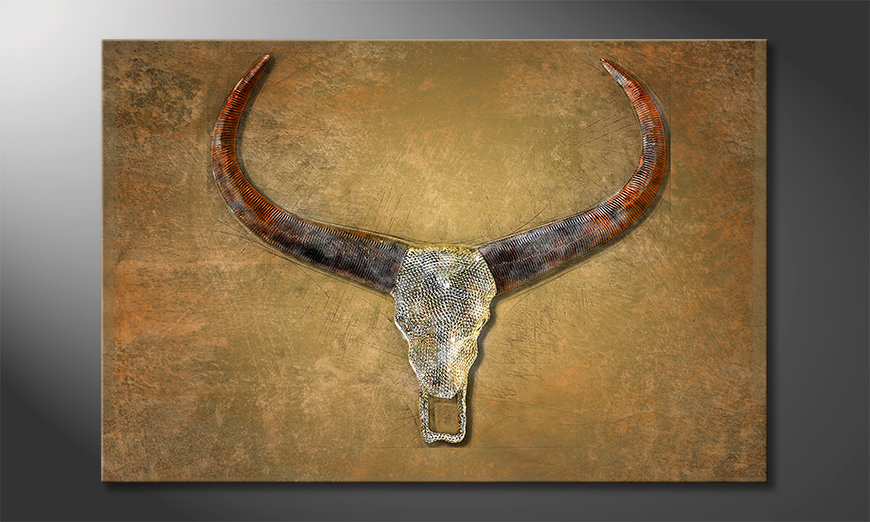 Arredamento moderno Bull Skull