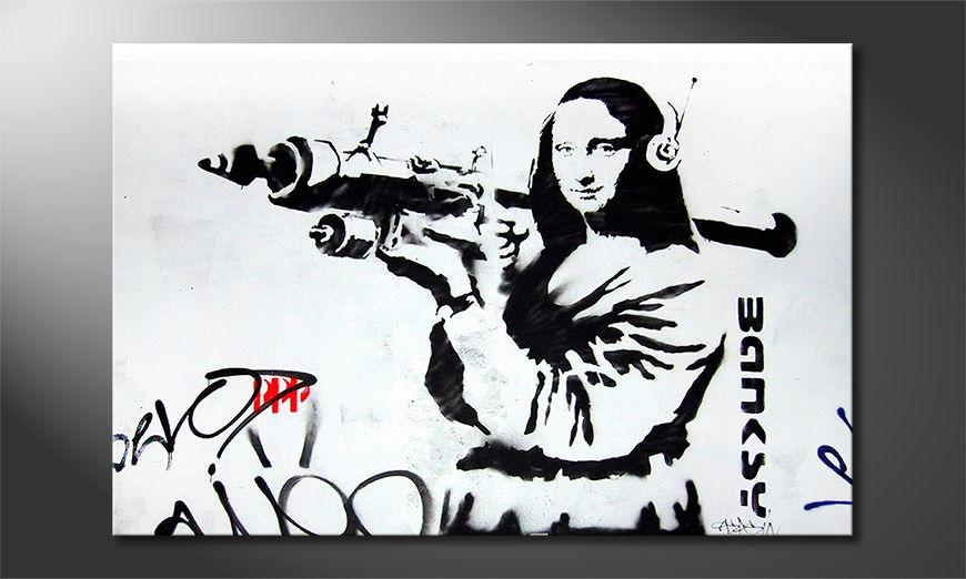 Banksy No1 tela