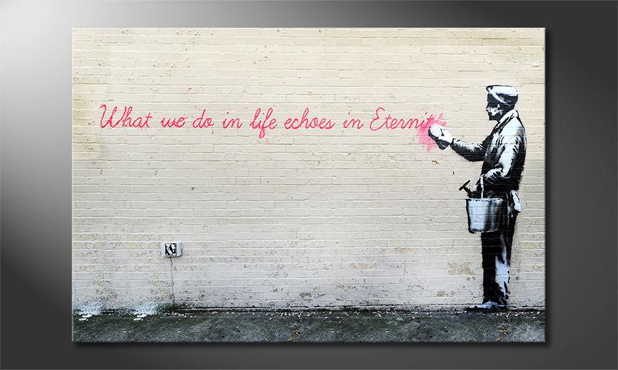 Banksy No17 tela