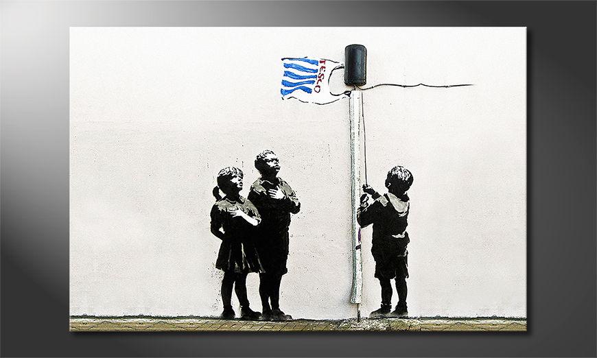 Banksy No18 tela