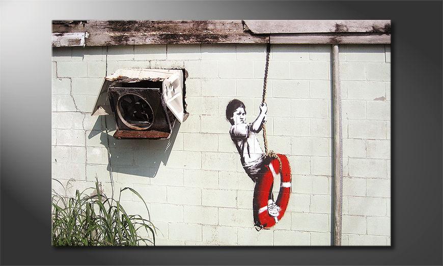 Banksy No4 tela