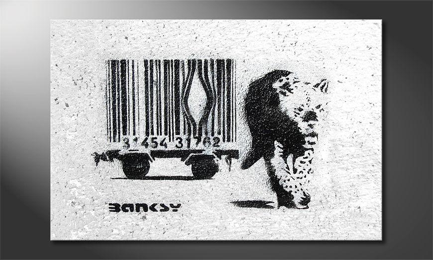 Banksy No5 tela