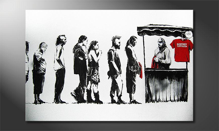 Banksy No6 tela