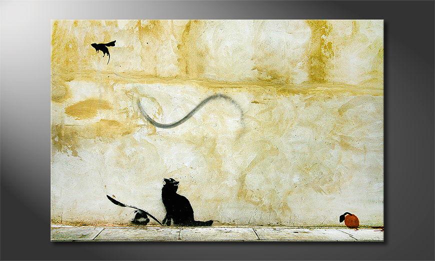 Banksy No8 tela