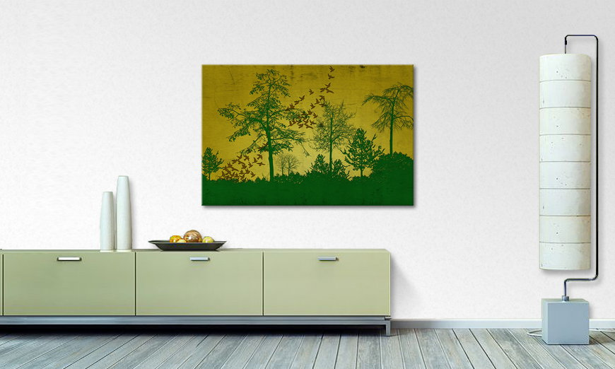 Birds in Forest quadro