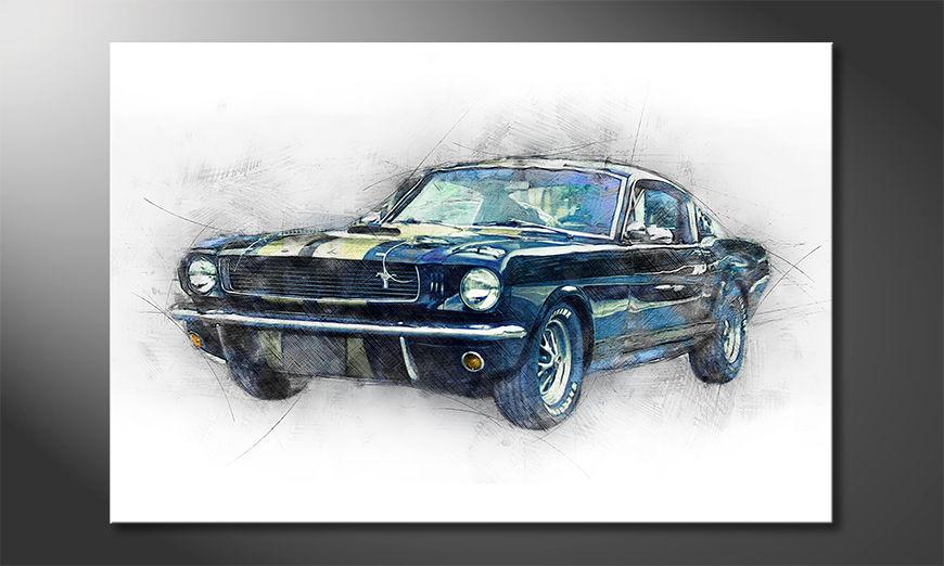 Black Mustang quadro moderni