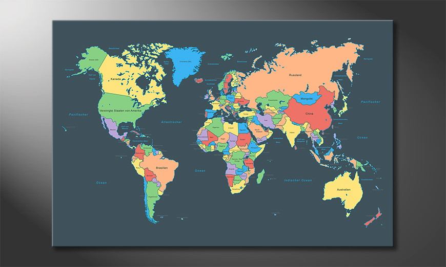 Colorful Map quadro