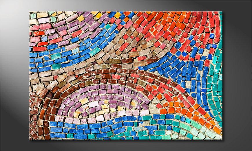 Colorful Mosaic tela