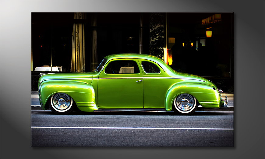 Green Car tela
