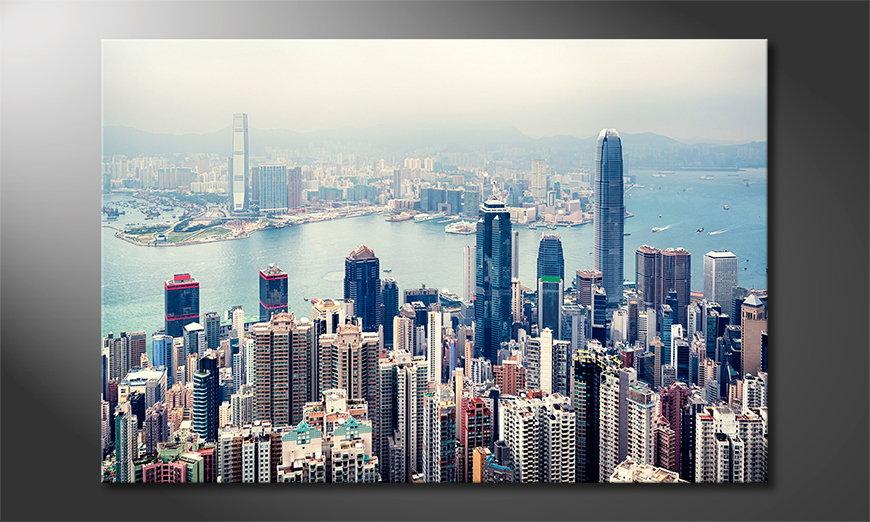 Hongkong Skyline quadro