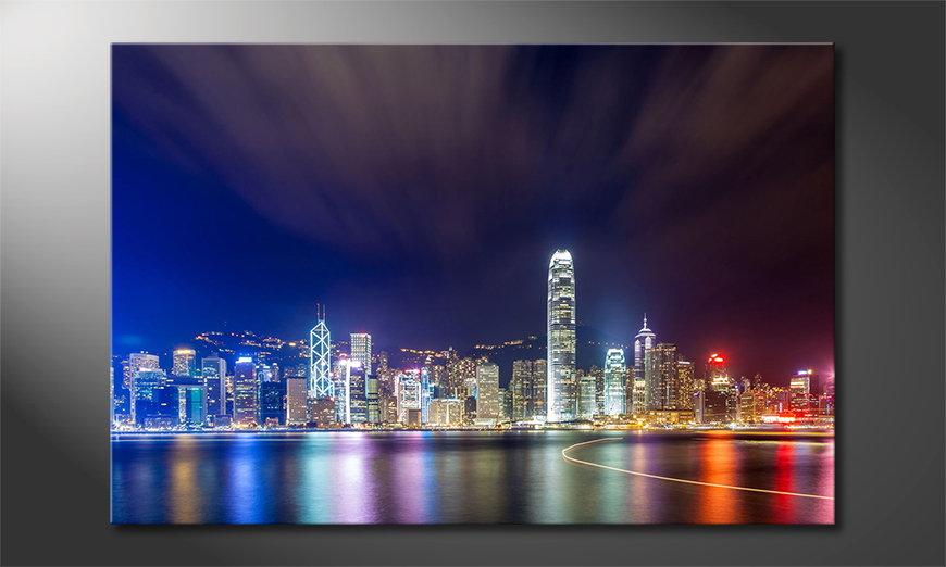 Hongkong at Night tela