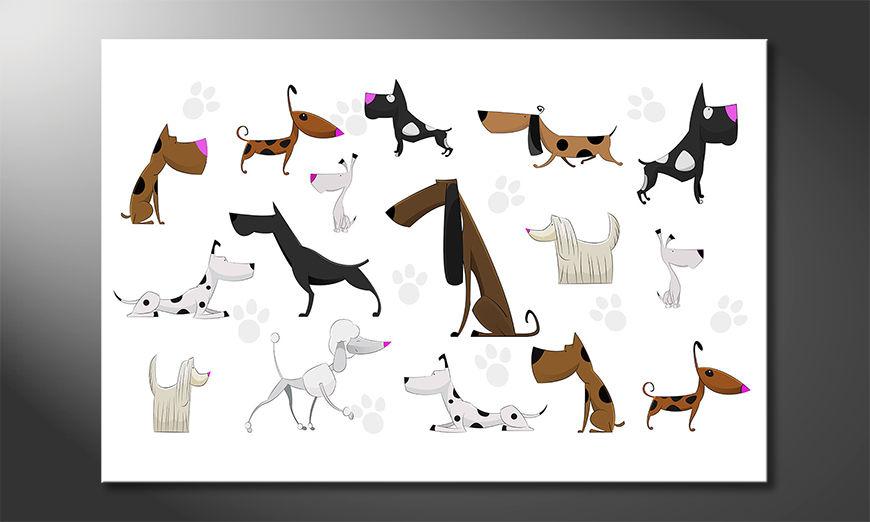 I quadri stampati Cartoon Dogs