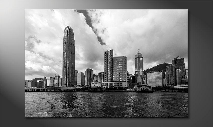 Il quadro stampati Hongkong Skyline