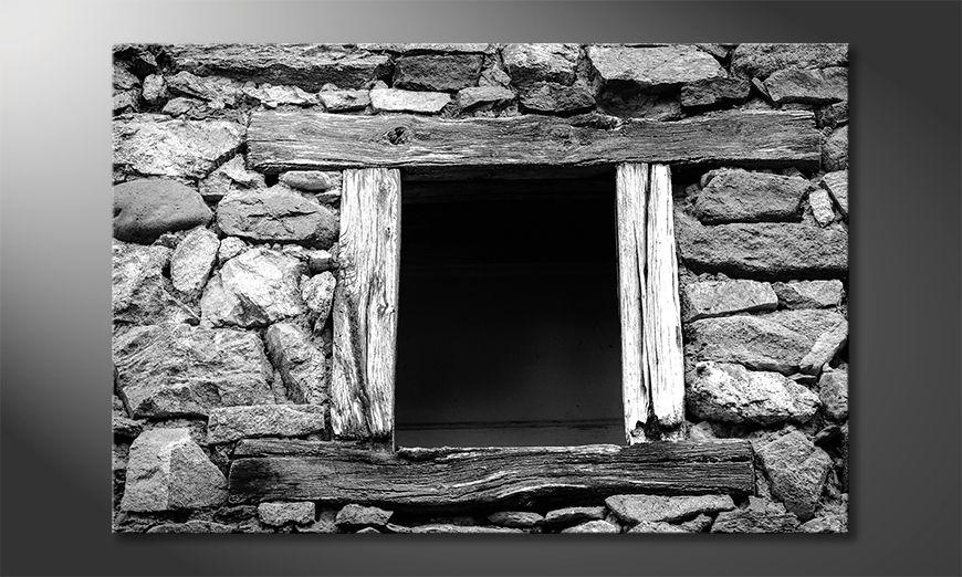 Il quadro stampati Wooden Windows