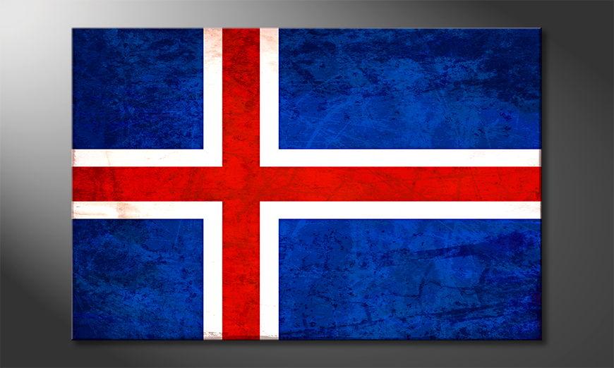 Islanda quadro moderni