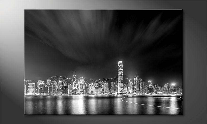 La bella pittura Hongkong At Night